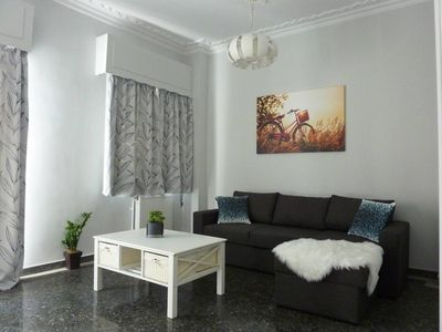 Photo for Comfy 2nd floor apt next to Neos Kosmos Metro