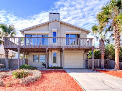 Beachwalk House, located in St. Augustine, FL, has ocean views, a unique lodge feel, and is across from beach.
