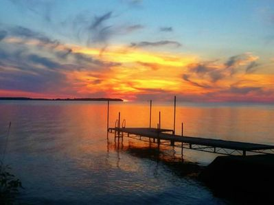 Amazing sunsets over our dock.