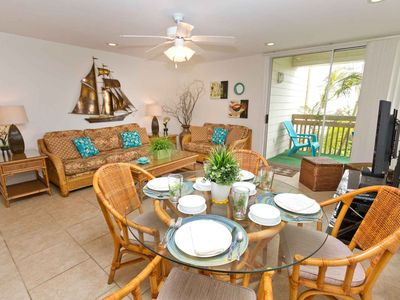 Photo for Bahia Mar 655 - Hidden Gem in Tropically Landscaped Courtyard, Steps Away from Texas Finest Beach!