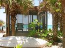 Your private, shaded, screened, lanai, with kayak, right on the beach!
