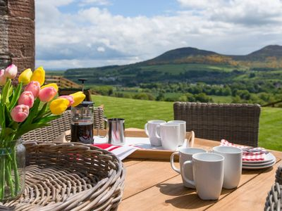 Photo for GRANARY, sleeps 8, superb barn conversion. outstanding views, near to Melrose