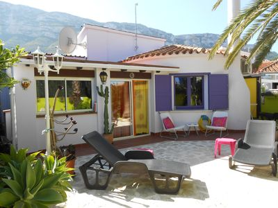 Photo for Charming bohemian- styled bungalow in the Montgo Natural Park area of Denia.