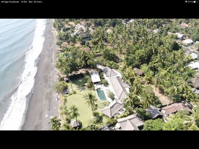 Photo for Large luxury beach villa, max 10 people, beautiful volume, typical Balinese