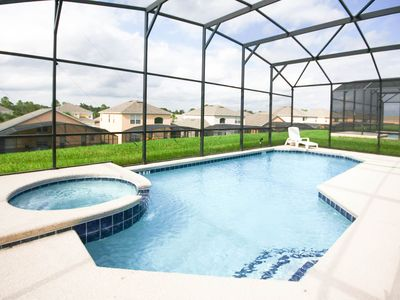 Photo for 7BR Villa w/ PrivatePool|Game Room|Baby stroller| Gated Resort|3 miles to Disney