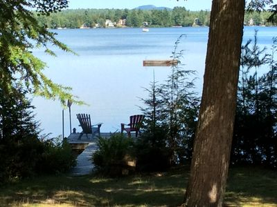 Photo for Private cottage on George's Pond. Sand beach, dock, swim float, kayaks on site.