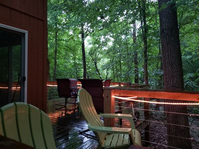 Photo for Feels like your in a Tree House! On the Creek! Fire Pit! 2min to the Winery!