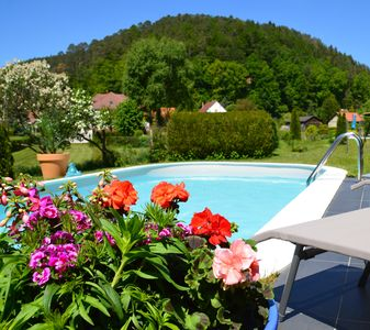 Photo for Comfortable, quiet and independent cottage with swimming pool in the heart of the Northern Vosges