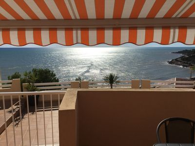 Photo for Appart 60m2 renovated without opposite terrace sea view / mountain tv / wifi clim pool