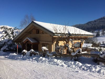 Photo for Charming Cosy Chalet in Demi Quartier Megeve opposite Princesse ski slopes