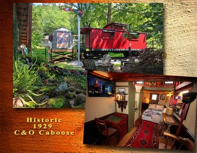 Photo for Historic Fully Restored 1929 Caboose in Beautiful North Georgia Mountains