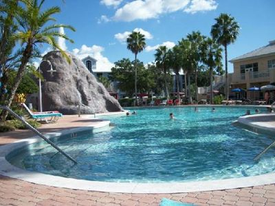 Photo for NEAR SEAWORLD ~2 BD Condo~ Cypress Pointe Resort~VOLCANO POOL/SLIDES/BBQ AREA