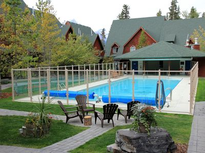 Photo for Luxury Mountain View 2-Storey Chalet, 2 BR/2 BTH, Heated swimming pool/hot tub