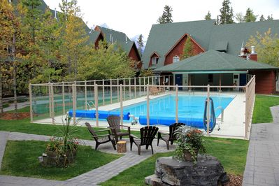 Largest Outdoor swimming pool in Canmore