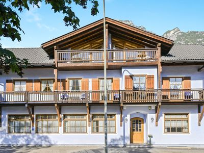 """Photo for Cosy Katharinenhof holiday apartment """"Alpspitz"""" with Balcony, Mountain View & Wi-Fi; Parking Available, Pets Allowed"""