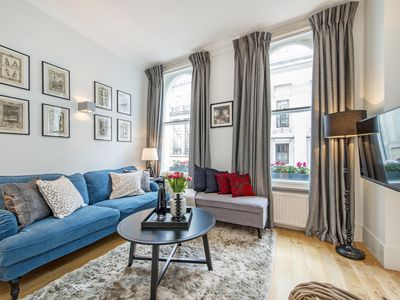 Photo for Absorb the city with ease from this Covent Garden flat nestled amongst London
