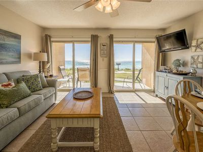 Photo for Come stay where the dolphins play! 13- A BEACH FRONT Condo, sleeps 6. Coral Reef Club.