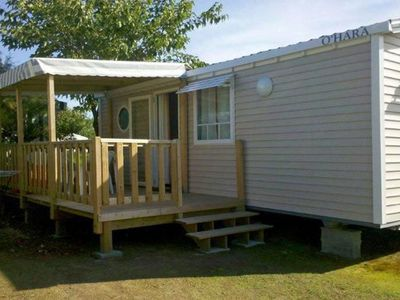 Photo for Comfortable mobile home located on a campsite within walking distance of the beach