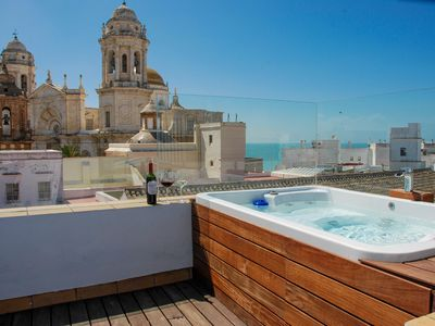 Photo for Stunning Penthouse With Large Roof Terrace, Jacuzzi & Sea Views