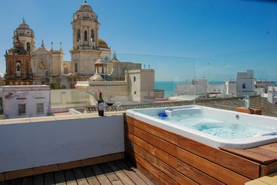 Jacuzzi En Terraza.Stunning Penthouse With Large Roof Terrace Jacuzzi Sea Views Old Town