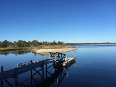 Photo for Waterfront Beach Home with Dock in the Hamptons