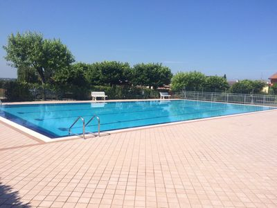 Photo for beautiful super furnished apartment private garden large swimming pool tennis.