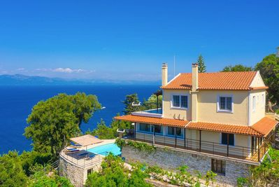 Beautiful villa with private pool and terrace with panoramic sea views