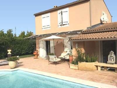 Photo for House near Aix en Provence, swimming pool and beautiful relaxation area 7 people