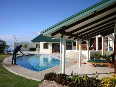 Photo for Asbolute oceanfront luxury villa andamp; swimming pool