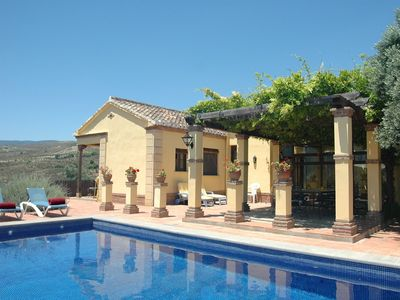 Photo for Rural Andalucian villa near Granada with fantastic views and private pool