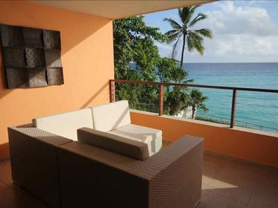 Photo for Sweeping Caribbean Sea Views in Barbados St Lawrence Gap Seafront Condo