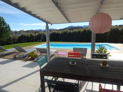 Photo for Large family home with heated pool and views of the Pyrenees