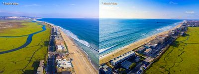 An aerial view of the Pacific Ocean & Nat'l Park Estuary in Imperial Beach.