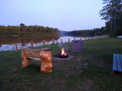 Photo for Waterfront Private Campground - Two extra RV hookups available - $45 per night