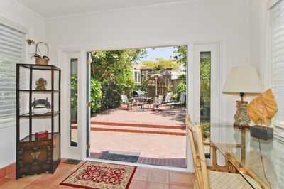 French doors open onto patio - lots of sunshine !