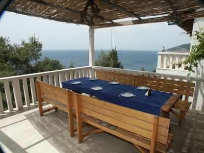 Photo for One bedroom apartment with terrace and sea view Sveta Nedilja, Hvar (A-111-a)