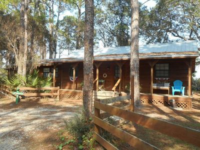 Photo for Private, quiet cabin on St. Joe Bay on Cape San Blas