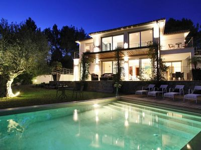 Photo for Villa Vista is a Stylish modern holiday villa for rent in leafy urbanisation outside of Pollensa