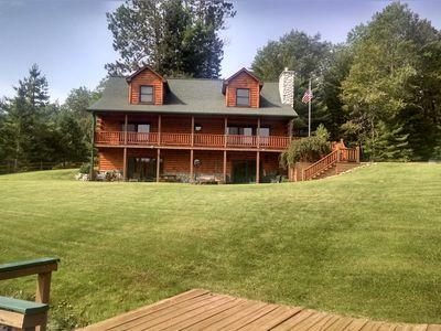 Photo for Log Cabin Long Lake: modern living in a rustic, relaxing and romantic atmosphere