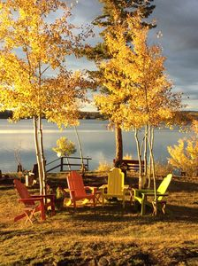 Looking out to the lake; fall.