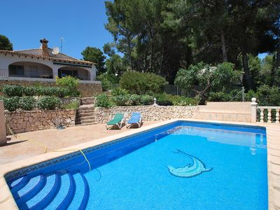 Photo for Beachnear villa with sea-view and private pool, air-condition, internet
