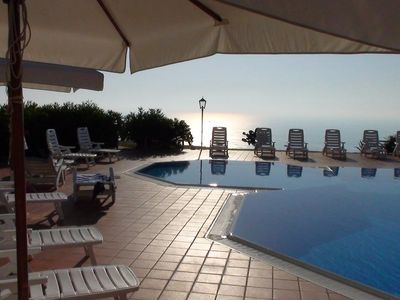 Photo for Apartment with stunning views over Tropea & great infinity pool