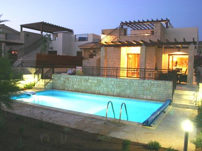 Photo for Luxury villa, private heated pool, huge roof terrace and great views