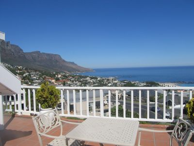 Photo for Luxury 4 bed 4 bath villa -exceptional sea views over Camps Bay beach and ocean.