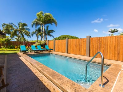 Photo for Poipu 4BD, HEATED Pool, AC, next door to 5 star listing #582638