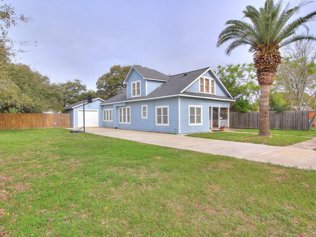 very eclectic restored home in aransas pass