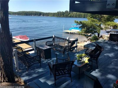 Photo for Lake house with a sunset to envy! Waterfront. Beach. 30 mins to stores