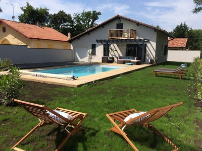 Photo for Renovated Landes, heated pool, Lake Soustons, nearby beaches