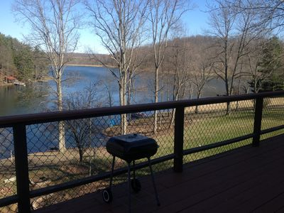 View of Wilson Lake from Balcony while you grill!