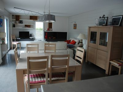 Photo for Pretty house sleeps 10, 2 minutes walk from the Port Blanc Beach, DINARD